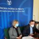 Prowadzący szkolenie dla SIP Pani Agnieszka Kuca Specjalista w Okręgowym Inspektoracie Pracy w Rzeszowie oraz Pan Marek Gołaś Starszy Inspektor Pracy
